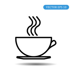 coffee cup icon eps 10 vector image