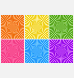 collection abstract colorful striped vector image
