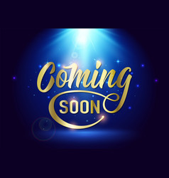 Coming soon sign promotion announcement banner vector