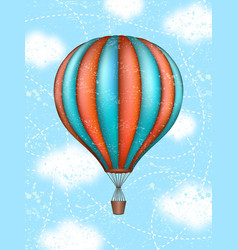 conceptual art of hot air balloon concept vector image
