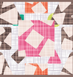 Design cloth with geometric shapes vector