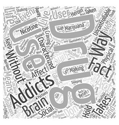 Drug addiction facts Word Cloud Concept vector