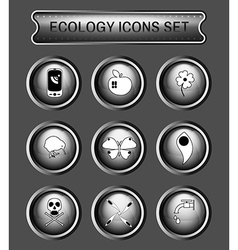 Ecology logo icon set vector