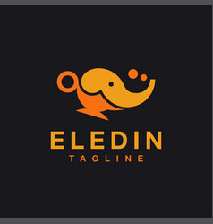 elephant aladin magic lamp logo icon template vector image