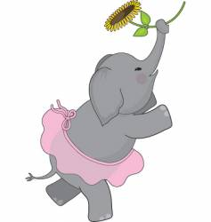 elephant tutu vector image