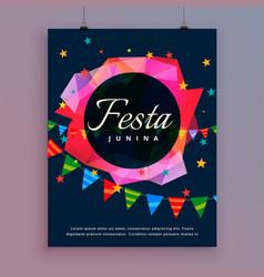 Festa junina celebration background flyer template vector