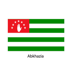 flag of abkhazia vector image