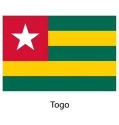 Flag of the country togo vector image