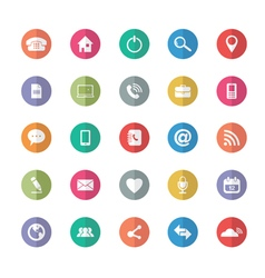 flat design universal outline icons for web vector image