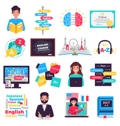 Foreign language training set vector