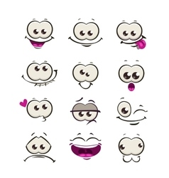 Funny cartoon comic faces vector