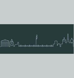 geneva single line skyline vector image