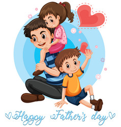 happy fathers day template vector image