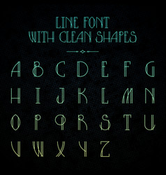 Hipster font with linear letters vector