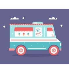 Ice Cream Truck Flat vector