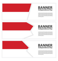 indonesia flag banners collection independence day vector image