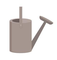Irrigation metal equipment watering pot vector