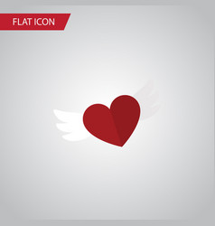 Isolated soul flat icon wings element can vector