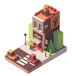 isometric wine shop vector image