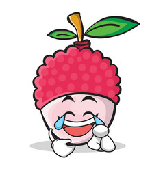 Joy face lychee cartoon character style vector