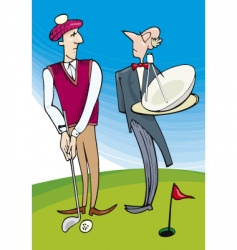 Lord playing golf vector