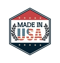 Made in usa emblem icon vector