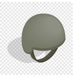 military helmet isometric icon vector image