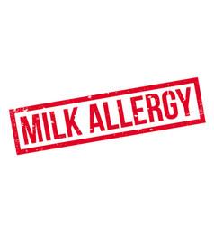 milk allergy rubber stamp vector image