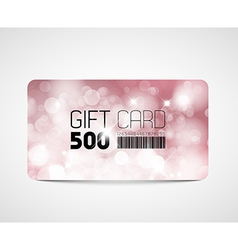 Modern pink gift card template vector