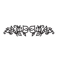 Monoline flourish scandinavian monogram vector