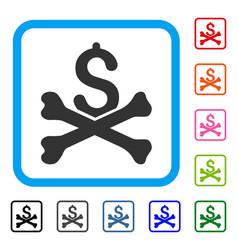 Mortal debt framed icon vector