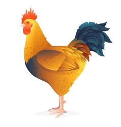 One Brown Rooster vector image