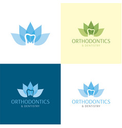 orthodontics and dentistry logo vector image