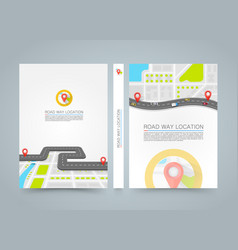 paved path on the road banner road book a4 size vector image