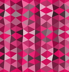 Pink mosaic background consist of triangles vector image