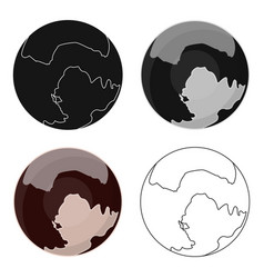 Pluto icon in cartoon style isolated on white vector
