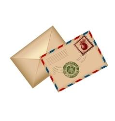 postcard letter for santa vector image