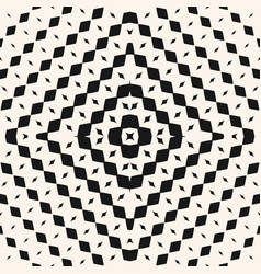 Radial halftone seamless tribal ethnic pattern vector