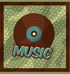 retro vintage music vector image