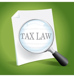 Reviewing Tax Law vector image