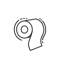 Roll toilet paper icon vector