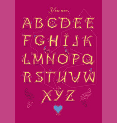 romantic cipher text you are my queen vector image
