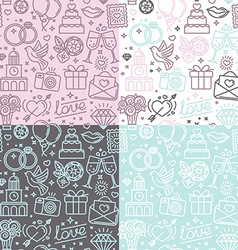 Seamless pattern and background for wedding vector