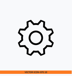 settings work tool icon with gear vector image
