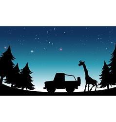 Silhouette safari vector image