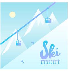 ski resort poster vector image