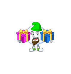 Super cute snowball cartoon design with christmas vector