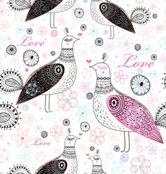 Texture love birds vector