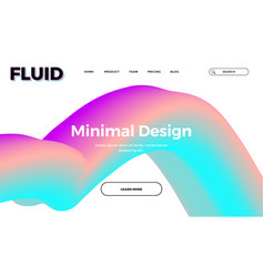 trendy design template with 3d flow shapes vector image