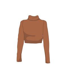Turtleneck long sleeve fashion style item vector